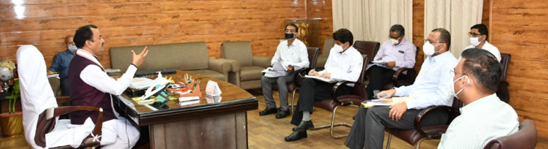 Review Meeting by Shri Keshav Prasad Maurya Hon'ble Dy.Chief Minister and PWD Minister on 07/06/2020